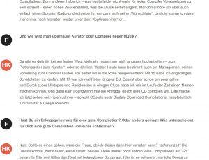 Interview on Wegotmusic.de 2/3