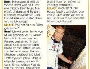 Kölner Illustrierte – Oktober 2000