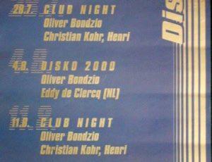 Diskopolitan Club, Roonburg Köln, Juli 1995