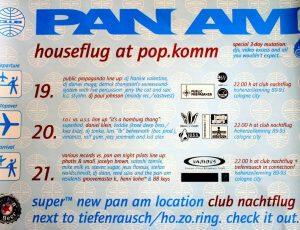 Pan Am Club, Popkomm 2000, Cologne