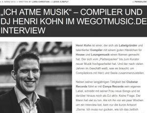 Interview on Wegotmusic.de 1/3
